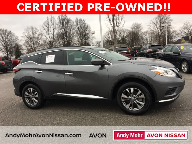 certified pre owned 2016 nissan murano sv 4d sport utility in avon p2288 andy mohr volkswagen. Black Bedroom Furniture Sets. Home Design Ideas